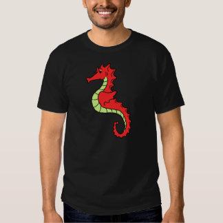 Cute Red Cartoon Seahorse T-shirt