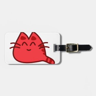 Cute Red Cat Luggage Tag