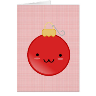 Cute Red Christmas Ornament Card