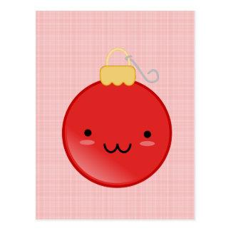 Cute Red Christmas Ornament Postcard