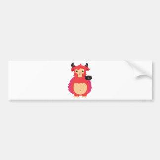 cute red cow design bumper sticker