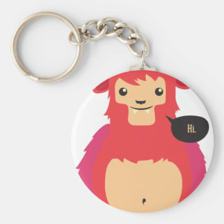 cute red cow design keychain