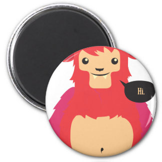 cute red cow design magnet