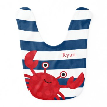 heartlocked Cute Red Crab Bib