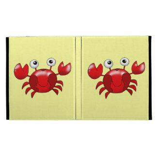 Cute red crab iPad folio cases