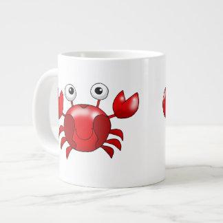 Cute red crab giant coffee mug