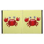 Cute red crab iPad folio cover