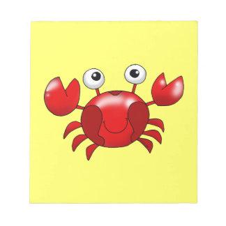 Cute red crab scratch pad