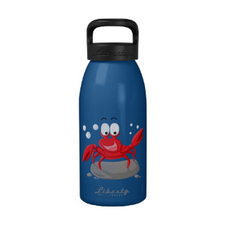 Cute red crab drinking bottles