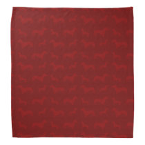 Cute red dachshund pattern bandana