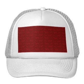Cute red dachshund pattern trucker hat
