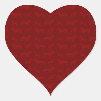 Cute red dachshund pattern sticker