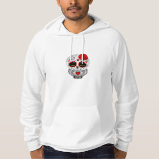 Cute Red Day of the Dead Sugar Skull Owl Hoody