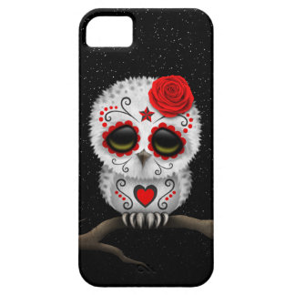 Cute Red Day of the Dead Sugar Skull Owl Stars iPhone 5 Covers