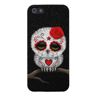 Cute Red Day of the Dead Sugar Skull Owl Stars iPhone 5 Case