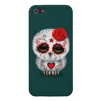 Cute Red Day of the Dead Sugar Skull Owl Teal iPhone 5/5S Cover
