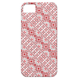 Cute red decorative ukrainian patterns design iPhone SE/5/5s case