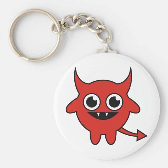 Cute Red Devil Keychain
