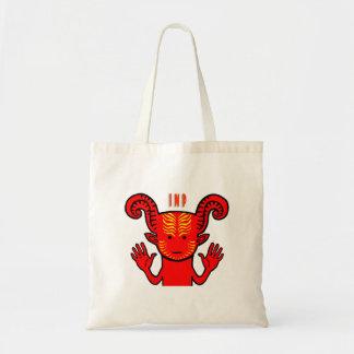 Cute Red Devil Tote Bag Canvas Bags