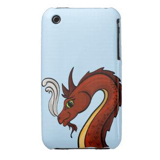 Cute Red Dragon Head Case-Mate iPhone 3 Case
