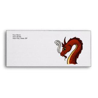 Cute Red Dragon Head Envelope