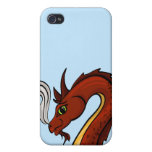 Cute Red Dragon Head iPhone 4 Cover