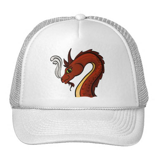Cute Red Dragon Head Trucker Hat