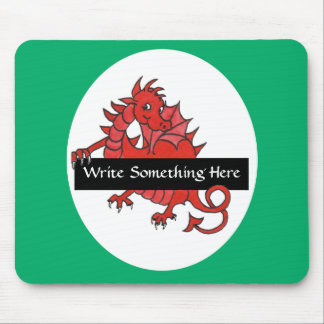 Cute Red Dragon Mousepad to Personalize