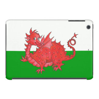 Cute Red Dragon on Green and White iPad Mini Case