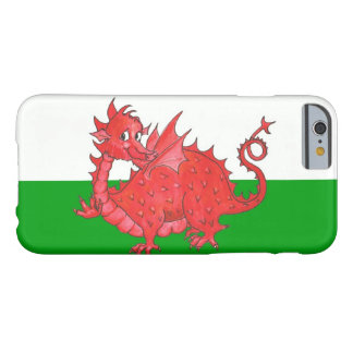 Cute Red Dragon on Green on White iPhone 6 Case