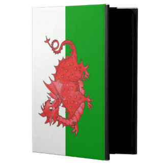 Cute Red Dragon on Green, White Powis iPad Case
