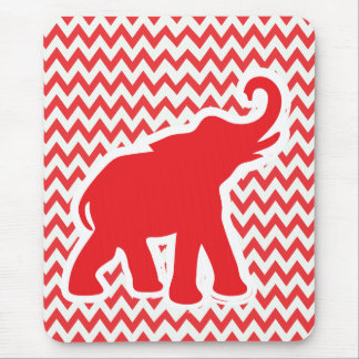 Cute red elephant mousepad