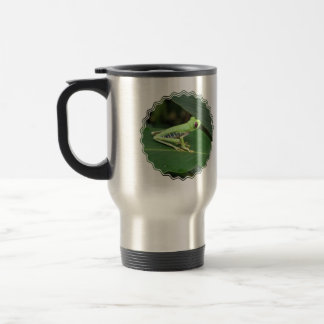 Cute Red Eyed Tree Frog 15 Oz Stainless Steel Travel Mug
