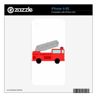 Cute Red Firetruck iPhone 4S Decal