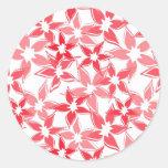 Cute Red floral sticker