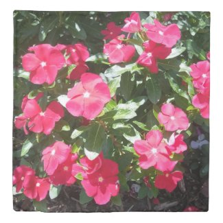 Red Flowers Print Duvet Covers