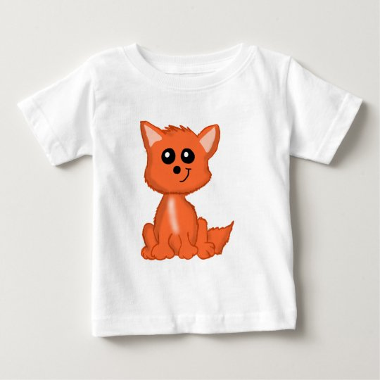 Cute Red Fox Baby Shirt
