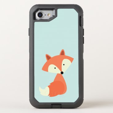 heartlocked Cute Red Fox OtterBox Defender iPhone 7 Case