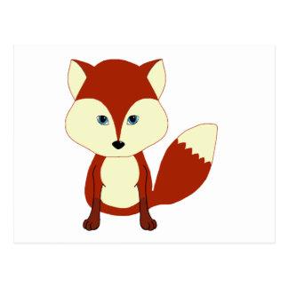 Cute Red Fox Postcard