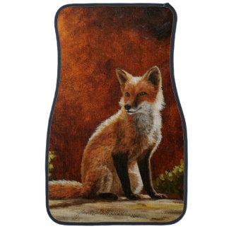 Cute Red Fox Sitting In The Sun Car Mat