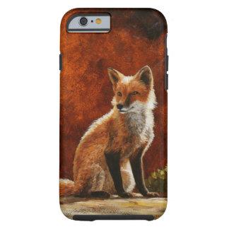 Cute Red Fox Sitting In The Sun Tough iPhone 6 Case