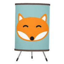 Cute red fox table lamp for kids bedroom nursery