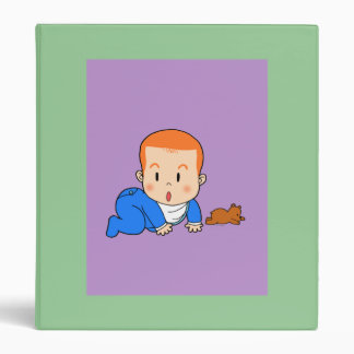 Cute red-haired baby binder