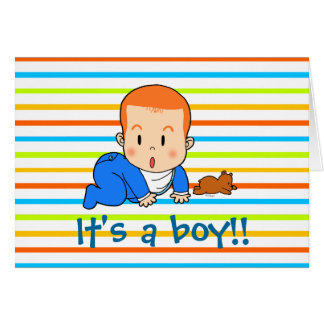 Cute red-haired baby card