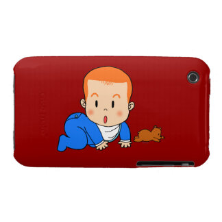 Cute red-haired baby iPhone 3 cover