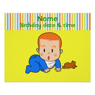 Cute red-haired baby poster