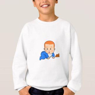 Cute red-haired baby sweatshirt