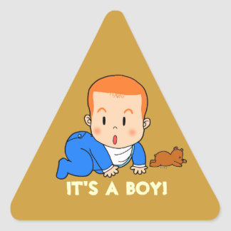 Cute red-haired baby triangle sticker