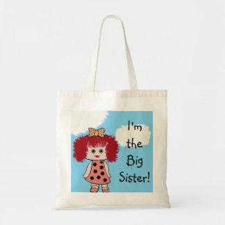 Cute Red Headed Girl Big Sister Tote Bag Canvas Bag