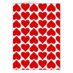 Cute Red Hearts Card